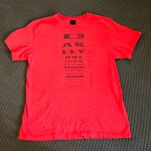 Oakley T-Shirt   Men's Medium   Red and Black